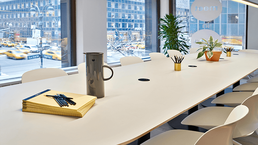 Find a Boardroom to Rent by the Hour in New York.